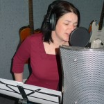 Michelle sings her heart out at her studio experience