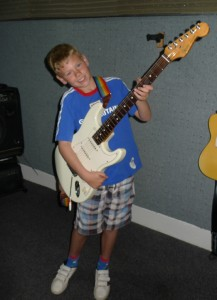 Jack posing with the studio guitar